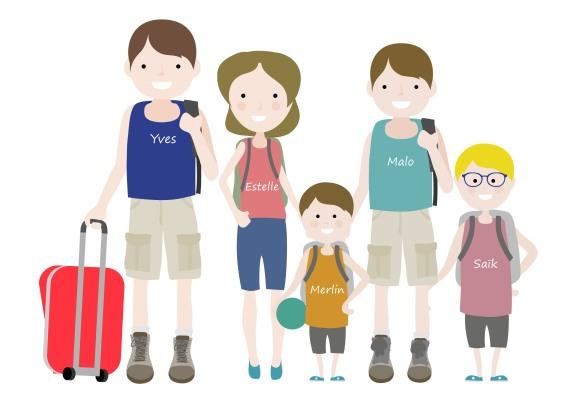 La famille Gourmelon en illustration