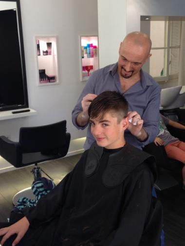 Malo chez le coiffeur