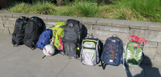 nos sacs à dos : notre maison sur le dos